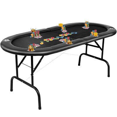 Foldable 8 Player Poker Table Casino Texas Holdem Folding Poker Play Carry Bag