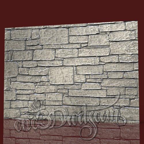 3D Model STL for CNC Router Artcam Aspire Wall Panel Stones Decor Cut3D Vcarve