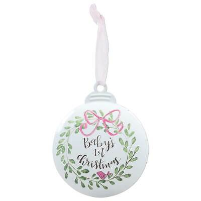 Brownlow Gifts Baby Girl First  Christmas Tree Ornament  Metal 41/4