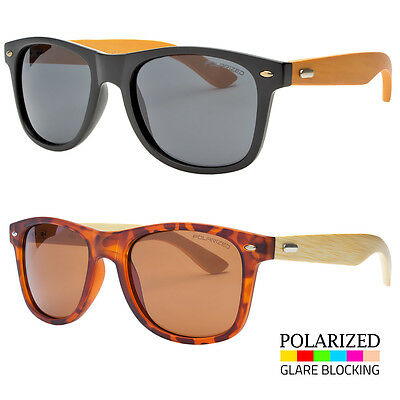 Premium Men Sunglasses  Style Black Frame wth Dark Lens Real Wood (Black Wood Sunglasses)