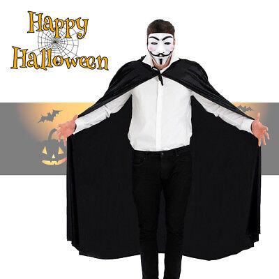 Anonymous Hacker Guy Fawkes Halloween Fancy Dress Costume Mask + Cape - Hacker Costume