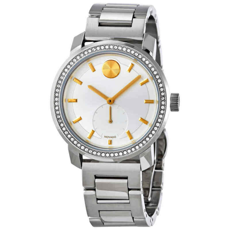 Movado Bold Quartz Silver Dial Ladies Watch 3600617