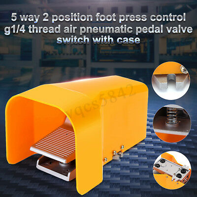 14 Nptf Pneumatic Mechanical Foot Pedal Valve 5 Way 2 Position Control Switch