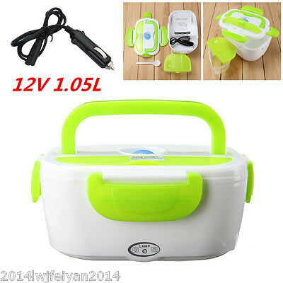 Portable 12V Electric Heated In-Car Heating Lunch Box Food Warm Container 1.05L