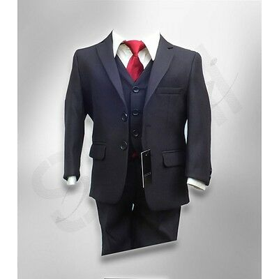 CLEARANCE SAVE ON Boys Stripe Navy Suit Pageboy Wedding Formal Wear (Boys Suits Clearance)