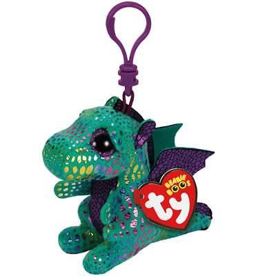 Ty Beanie Boos 3  Cinder Dragon Key Clip Plush Stuffed Animal Collectible Toy