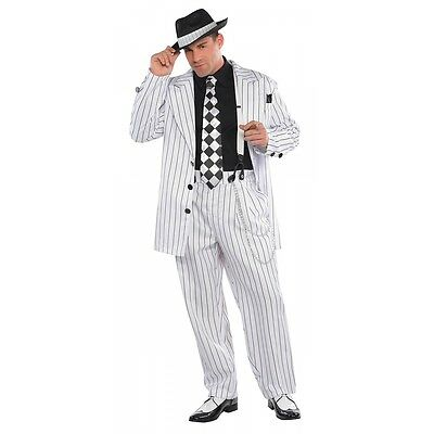 Gangster Costume Adult Roaring 20s Halloween Fancy Dress (20s Gangster Costumes)