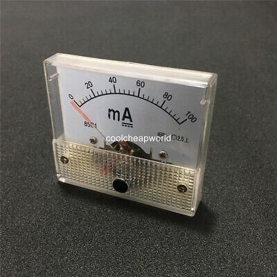 1pcs 85c1 Dc 0-100ma Analog Amp Panel Meter Current Ammeter 100ma Ampere Gauge