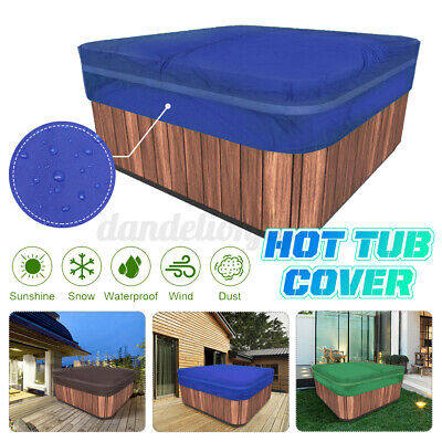 5 Sizes Heavy Duty Outdoor Hot Tub Spa Cover Waterproof Anti UV Oxford Fabric