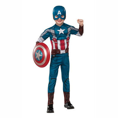 Captain America 2 The Winter Soldier Retro Suit Child Muscle Costume Rubies - The Winter Soldier Costume