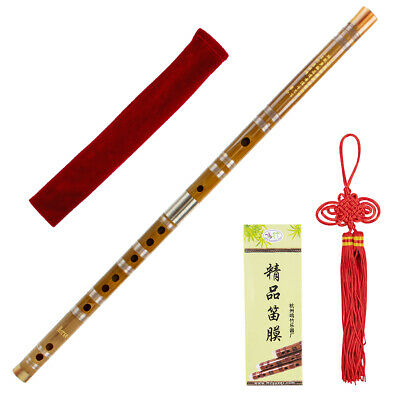 Bamboo Flute Dizi with Dimo Glue Traditional Chinese Musical Instrument E Key