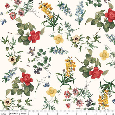 In Bloom Floral Cream - Riley Blake Cotton Fabric