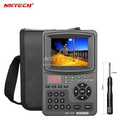 Nktech Hd Digital Satellite Signal Finder Meter Nk610 Cctv Camera Monitor Tester