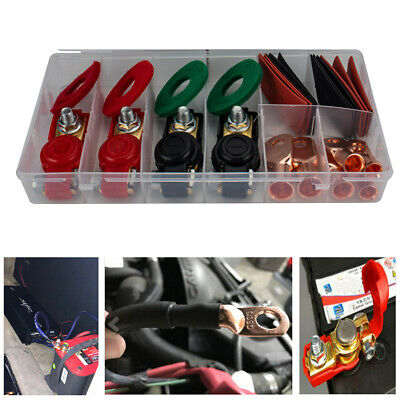 1 Set Car Battery Terminal Connector Post Positive Negative Wire Clamp Clip