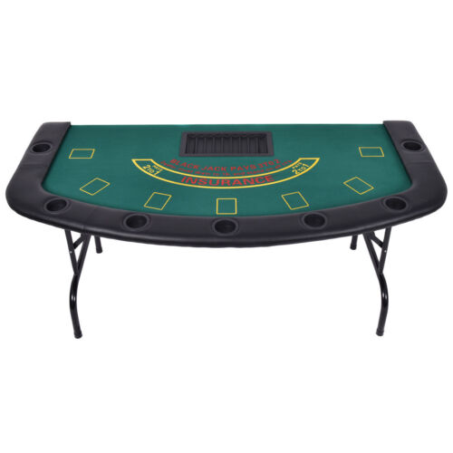 Professional Blackjack Card Game Table Chip Cup Holder Legs Waterproof Cloth
