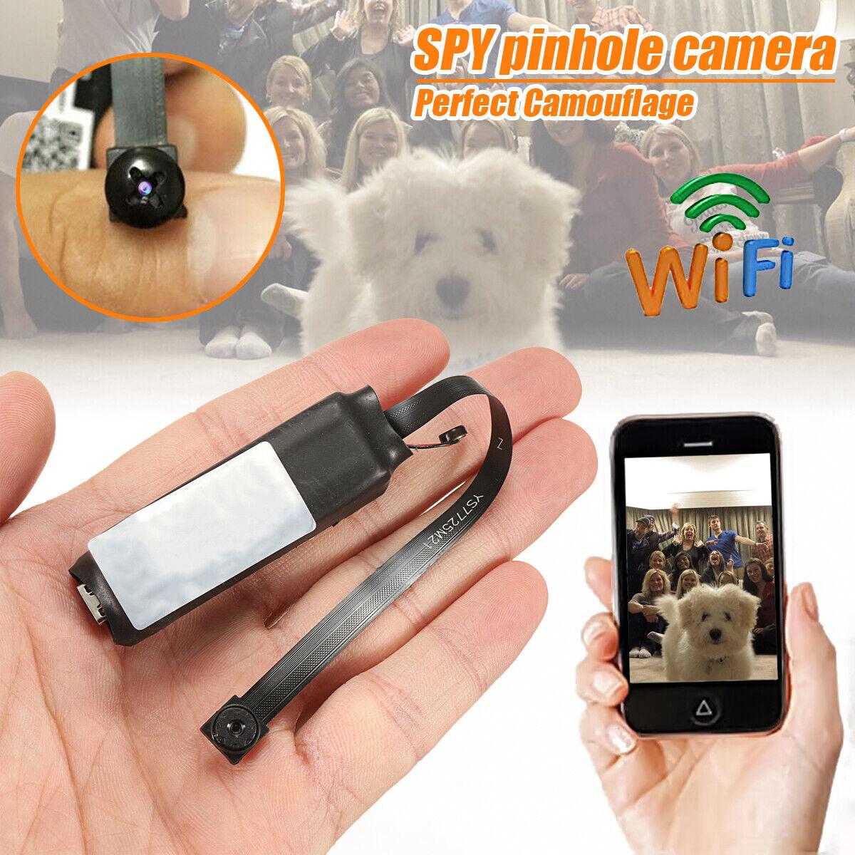 4K Smallest Wireless WIFI IP DIY Pinhole Spy Hidden Screw Ca