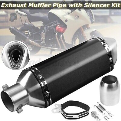 38-51mm Universal Motorcycle Stainless Steel Exhaust Muffler Pipe with Silencer