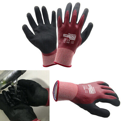 Durable Water-proof Oil Resistant Nitrile Palm Gloves For Heavy Industry Gloves