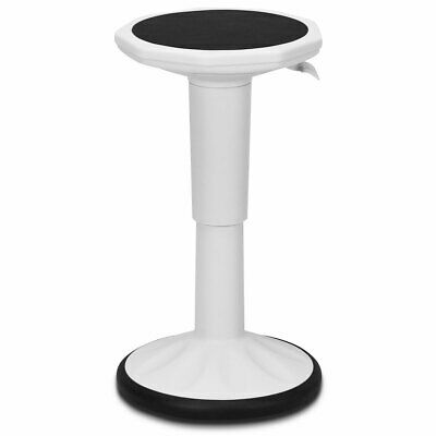 Activated Stool - Wobble Chair Height Adjustable Active Learning Stool Sitting Home Office White