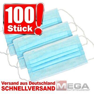 100 Stück Mundschutz-Masken 3 Lagig Atemschutz-Masken OP-Maske Einwegmaske