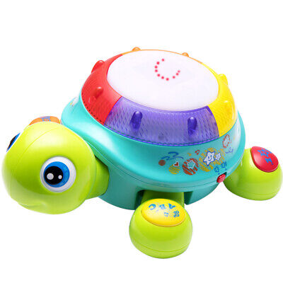Musical Turtle Toy, English & Spanish Learning,babies toys,gifts for 6mouths up