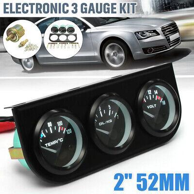 2'' 52mm Car Voltmeter Water Thermometer Oil Pressure Electrical Gauge Meter UK
