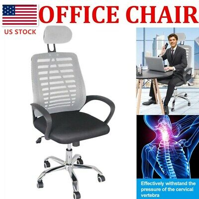 New Ergonomic Office Chair High Back Swivel Mesh Chair Computer Desk