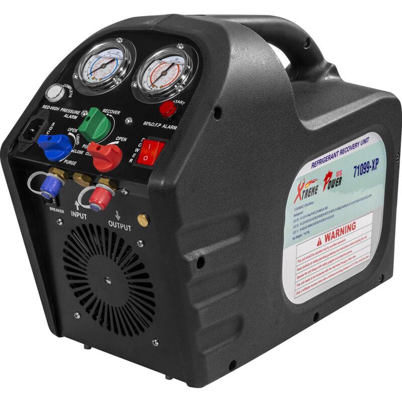 Portable Refrigerant Recovery Machine Charging Unit HVAC Liquid 1/2HP Kit 110V