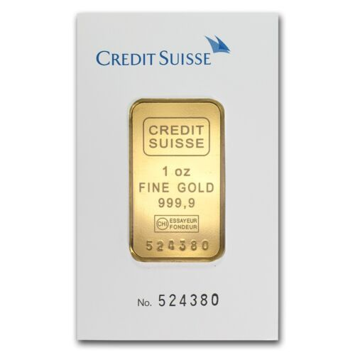 1 oz Credit Suisse Gold Bar - Tamper Evident Packaging - SKU #11950