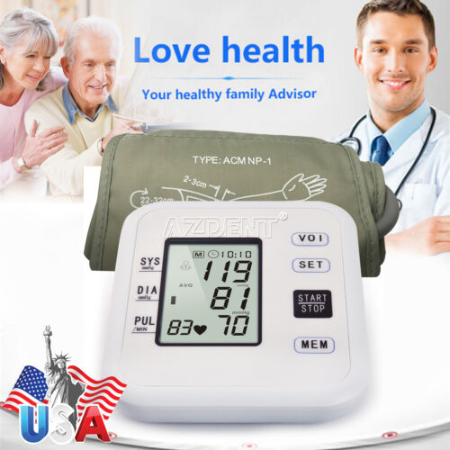 Digital Arm Blood Pressure Monitor Heart Beat Portable Home Health Care new