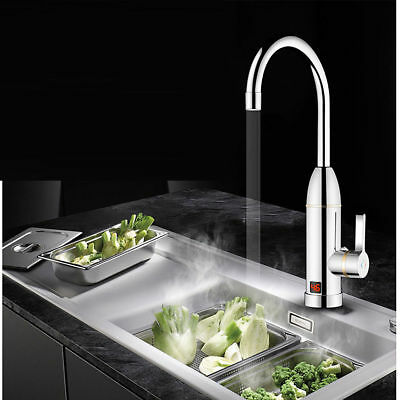 Electric Faucet Tap Hot Water Heater Instant For Home Bathroom Kitchen Boat 230V