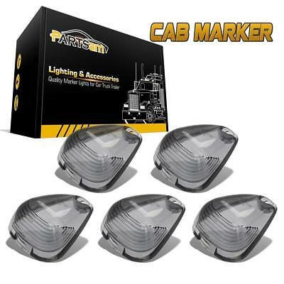 5x Smoke Cab Marker Clearance Light Lens Covers For Ford F-250 F-350 Super Duty