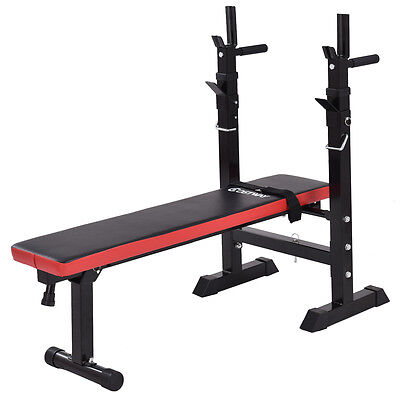 Adjustable Folding Sit Up Weight Bench Barbell Dip Station Lifting Chest Press