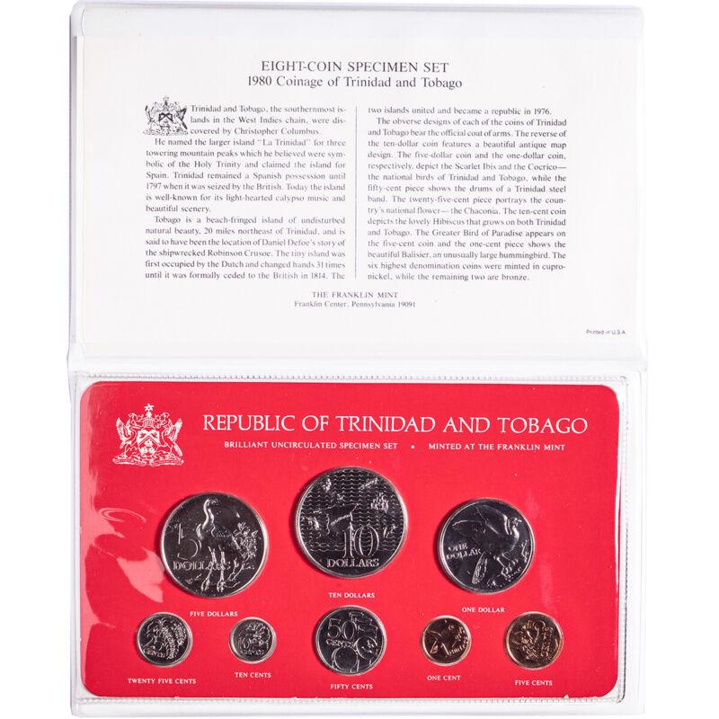 1980 Coinage of Trinidad and Tobago BU Specimen Set