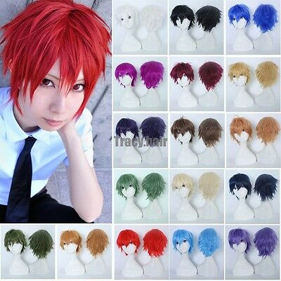 Cheap Anime Cosplay Wigs Unisex Halloween Costume Full Head Wig With Bangs - Anime Costumes Cheap