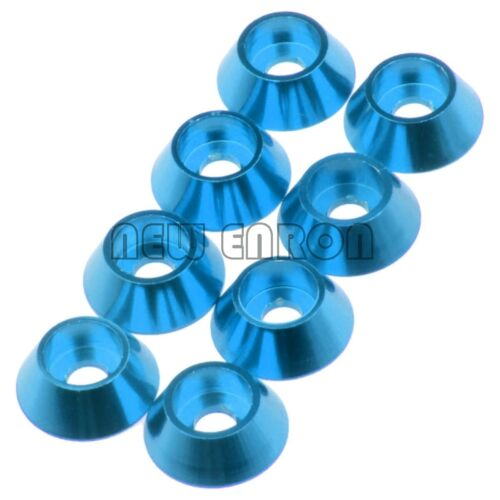 8P BLUE M3 Ball Head Screws Cap Spacer Washer Cup Head Gaske