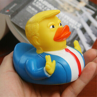 1pc Donald Trump Duck Rubber PVC Duck Bath Squeaky Baby Kids Animals Floats Toys