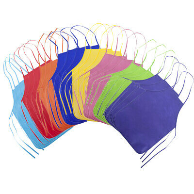 24x Lot Opromo Kids Painting Apron Pack Non Woven for DIY Cr