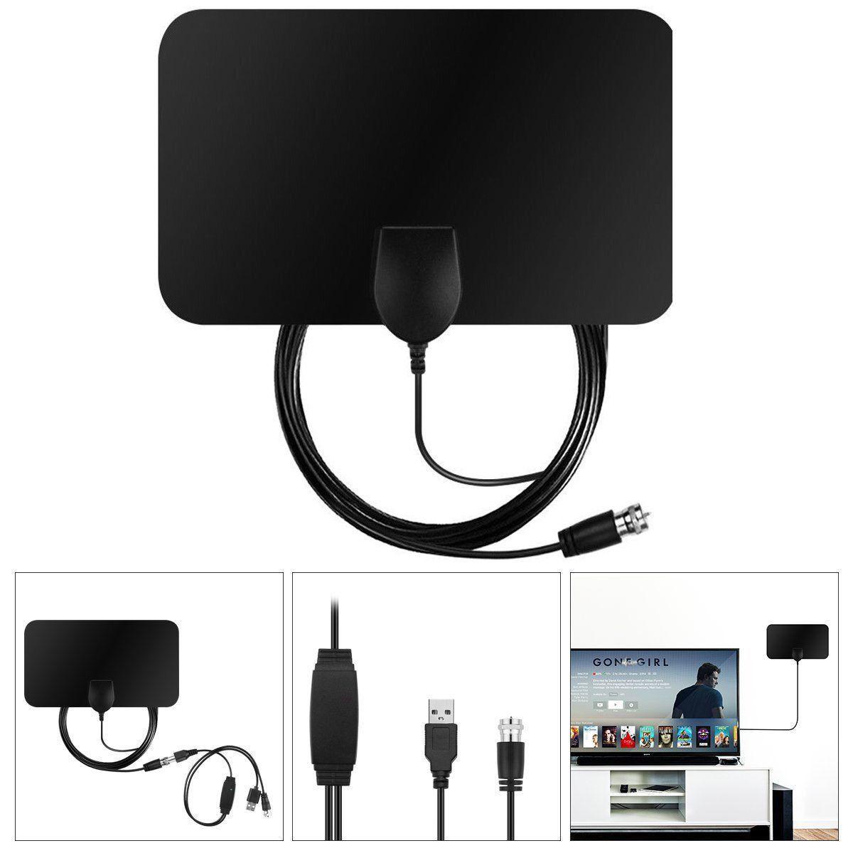 HDTV Digital Indoor Amplified Antenna HD TV Amplifier 50 Mil