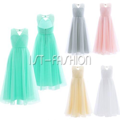 20cbbcf6e44b81 Kinder Mädchen festliche Kleider Brautjungfer Hochzeits Kleid  BlumenmädchenkleidEUR 12.69