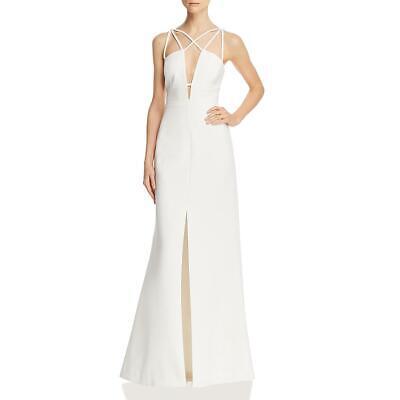 BCBG Max Azria Womens Strappy Slit Formal Evening Dress Gown BHFO 3729