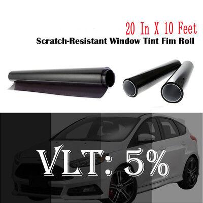 "Uncut Window Tint Film Shade 5%VLT 20"" In x10"