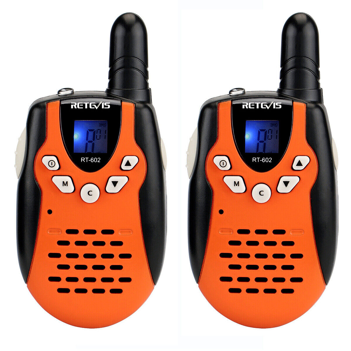6XRetevis RT602 Walkie Talkies Rechargeable 22CH FRS VOX 2Way Radio FOR KIDS US