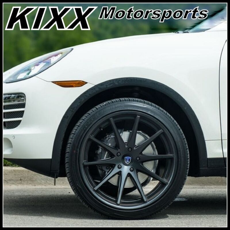 "22"" Rohana Rc10 22x9/10.5 Black Concave Wheels For Porsche Cayenne S Gts Turbo"
