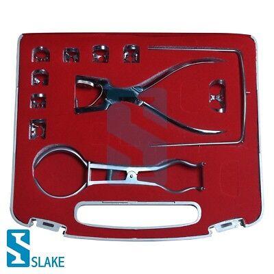 15 Pcs Endodontic Rubber Dam Clamps Kit Ainsworth Plierstoke Dental Instruments