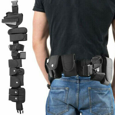Police Security Guard Enforcement Duty Utility Tactical Belt Pouch Holster Gear