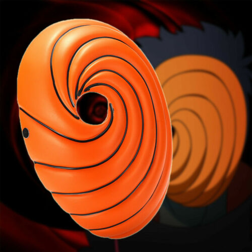 Naruto Akatsuki Tobi Uchiha Obito Madara Costume Helmet Mask Halloween Cosplay
