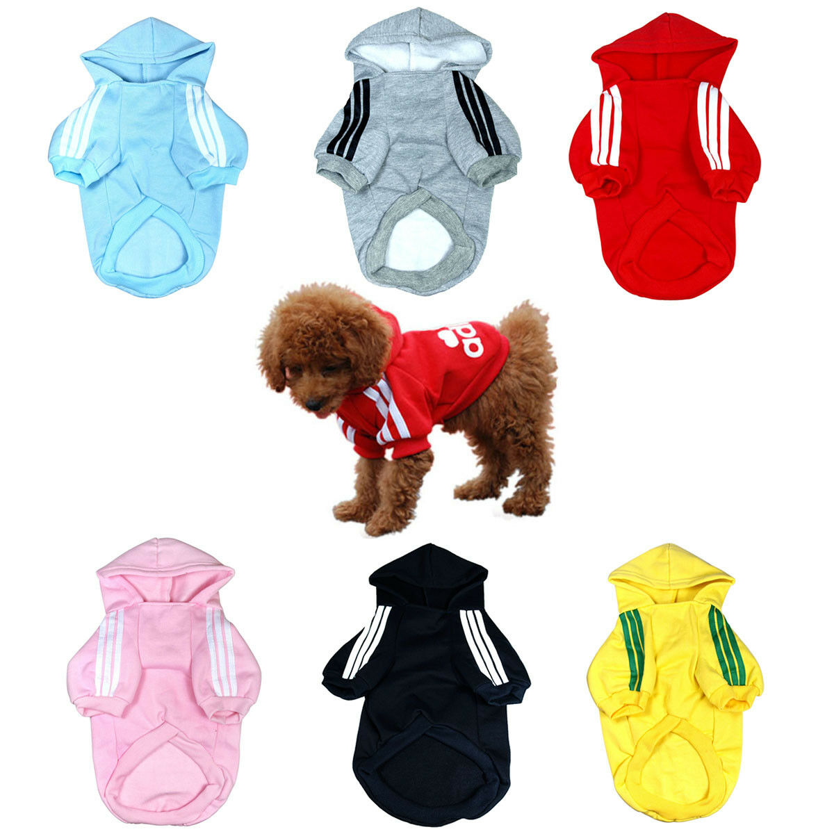 Купить Puppy N Kitten PNK-CLTH-HDIE-GRP-001 - Adidog Puppy Hoodie Sweater Pullover Sweatshirt Warm Clothing for Dog Pet