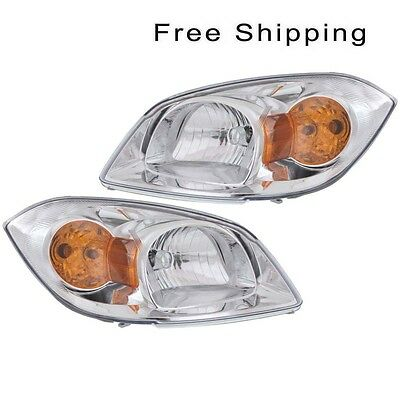 Head Lamp Assembly Set of 2 Pair LH & RH Side Fits Chevrolet Cobalt Pontiac G5