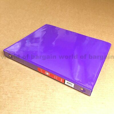 12 Inch 3 Ring View Binder Purple File Folder 100 Sheet Letter Size Filler C91